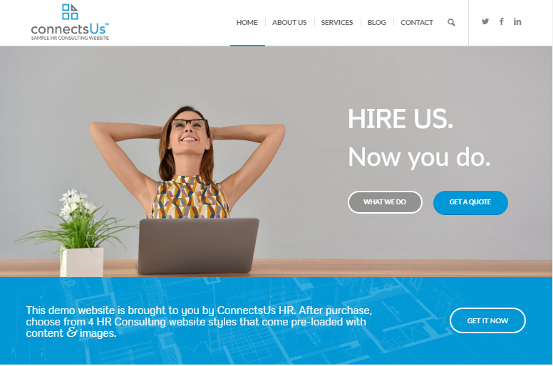 Professional hr consulting website templates 5 day set up for Consulting website