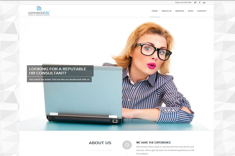 Professional HR Consulting Website Templates - 5 Day Set Up