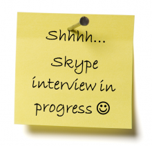 skype interview with job candidates